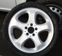 photo of repaired alloy wheel